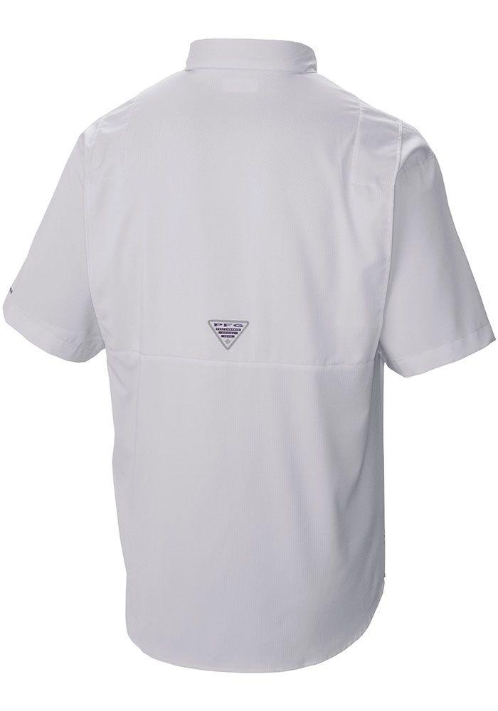 Columbia Texas Tech Red Raiders Mens White Tamiami Short Sleeve Dress Shirt, White, 100% POLYESTER, Size S #shortsleevedressshirts