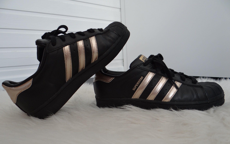 Superstar Adidas Rose Gold Black Shoes Looks Good Rose Gold Adidas Black Adidas Shoes Adidas Superstar Black