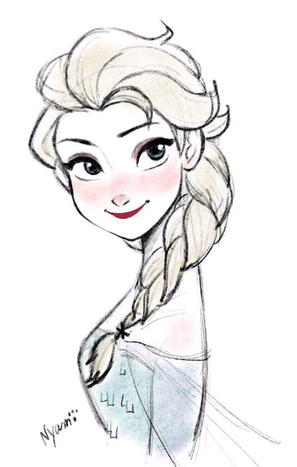 Nyamo On Dibujos Animados Elsa Dibujo Y Princesas Disney