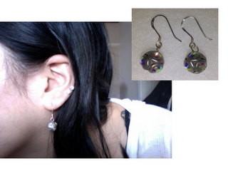 me made: earrings from buttons