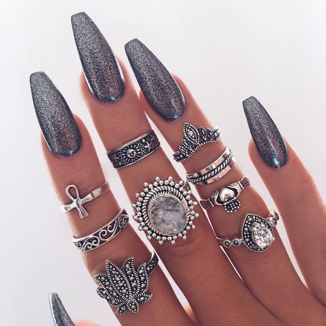 Makeup & Nails ღ on   Twitter, Ballerina nails and Make up