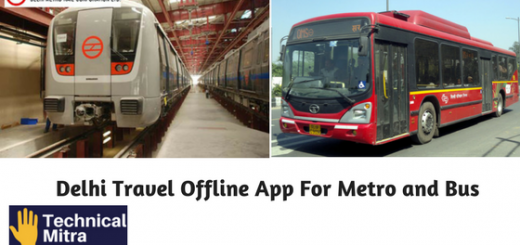Delhi Travel Offline App For Metro and Bus | Technical Mitra