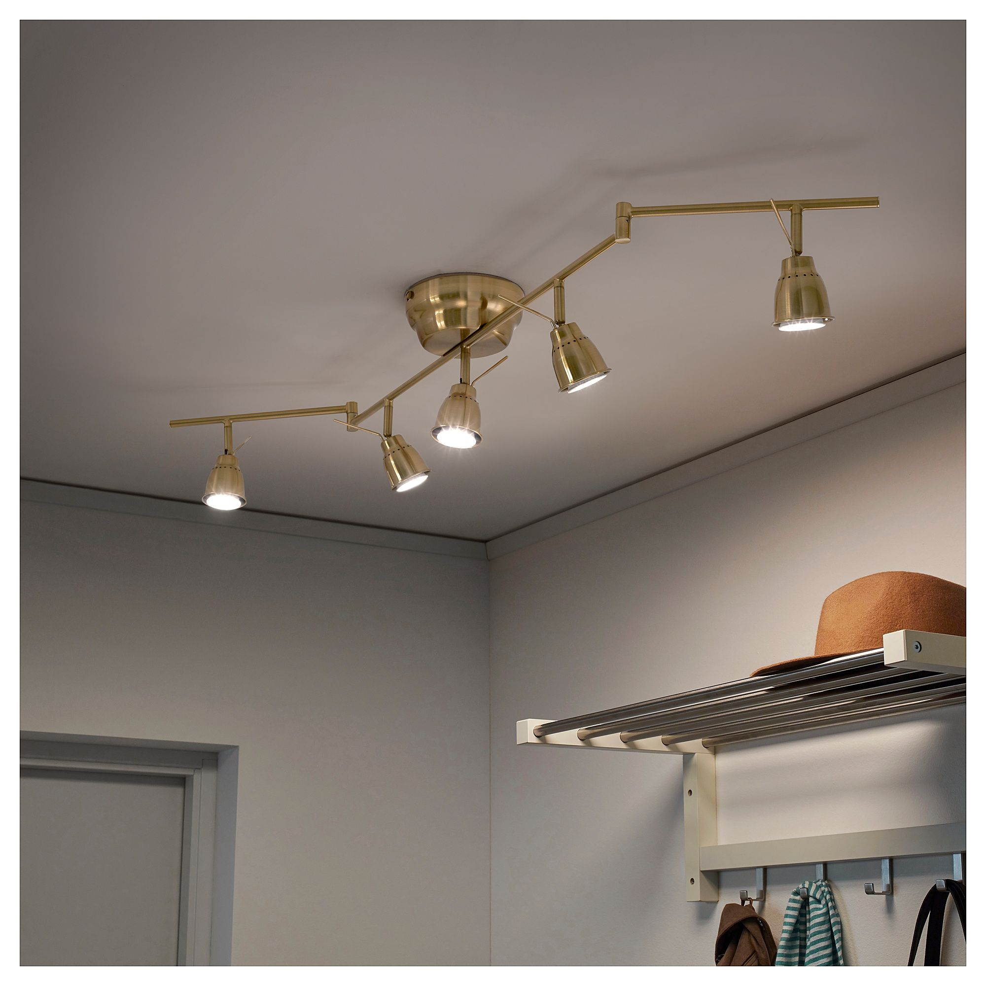 Ikea Barometer Ceiling Track 5 Spots Brass Color In