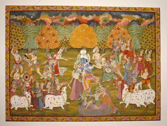 11FRPICHWAI1__VINN_1326702g.jpg 568×430 pixels | Pichwai paintings, Hindu  art, Indian art