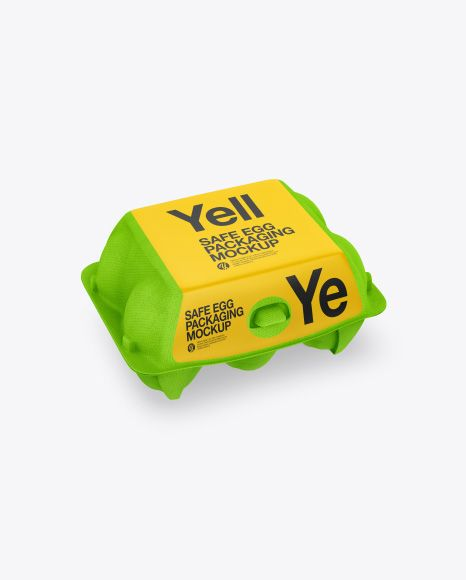 Download 6 Egg Carton Pack Mockup In Packaging Mockups On Yellow Images Object Mockups Free Psd Design Packaging Mockup Egg Carton