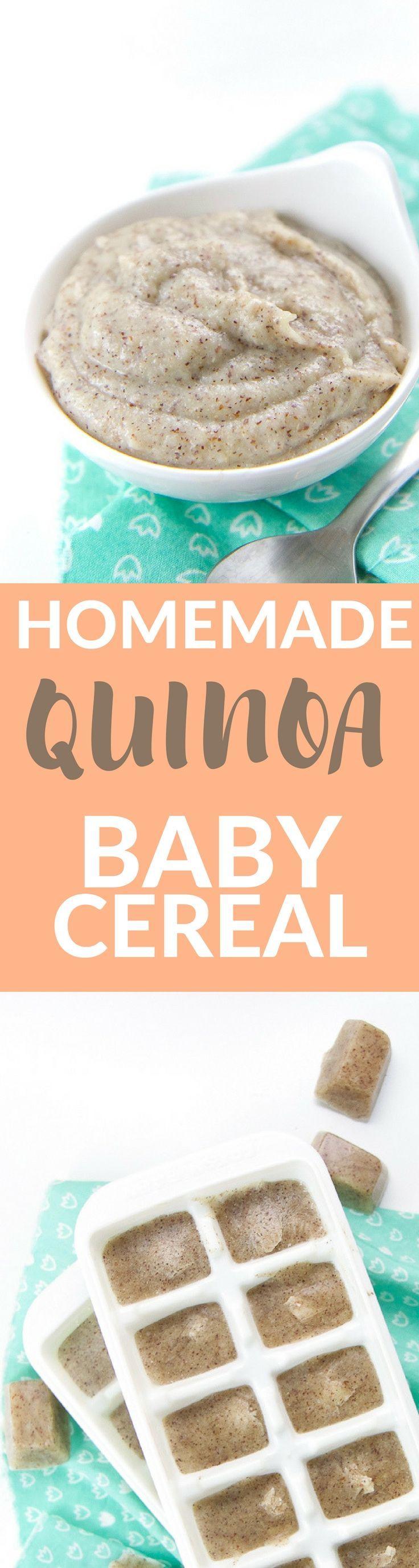 Homemade Quinoa Baby Cereal Recipe