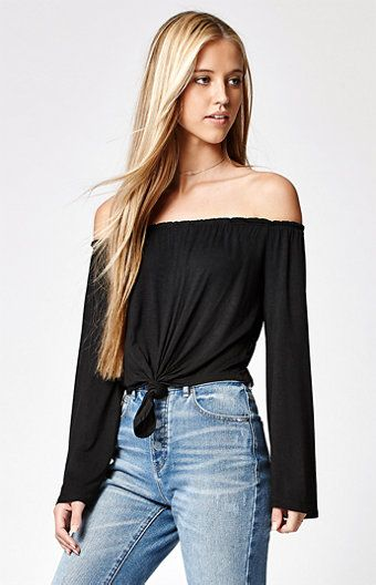 02e7a15324e Get basic meets boho style in this LA Hearts off-the-shoulder top ...