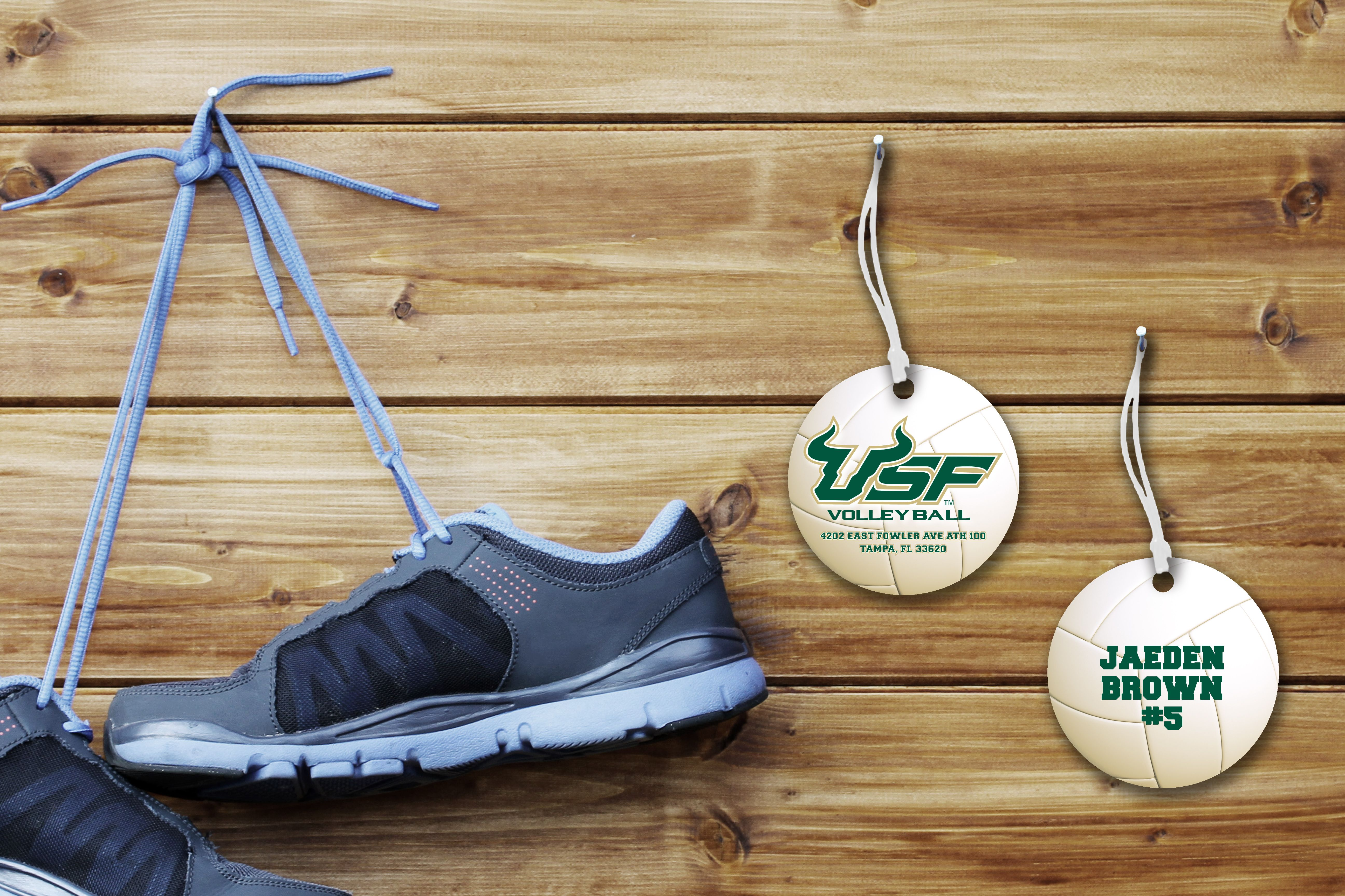 Volleyball Luggage Tags For University Of South Florida Key Tags University Marketing Luggage Tags