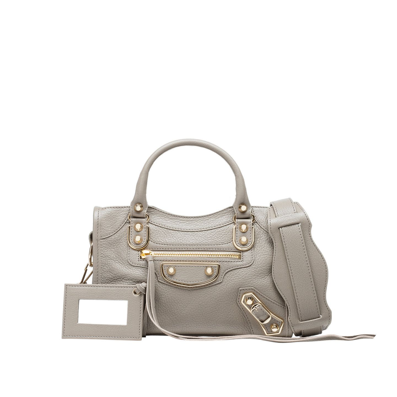 Holiday Classic Metallic Edge Mini City For Women Balenciaga In 2020 Balenciaga Mini City Bag Taupe Handbag Balenciaga Mini City