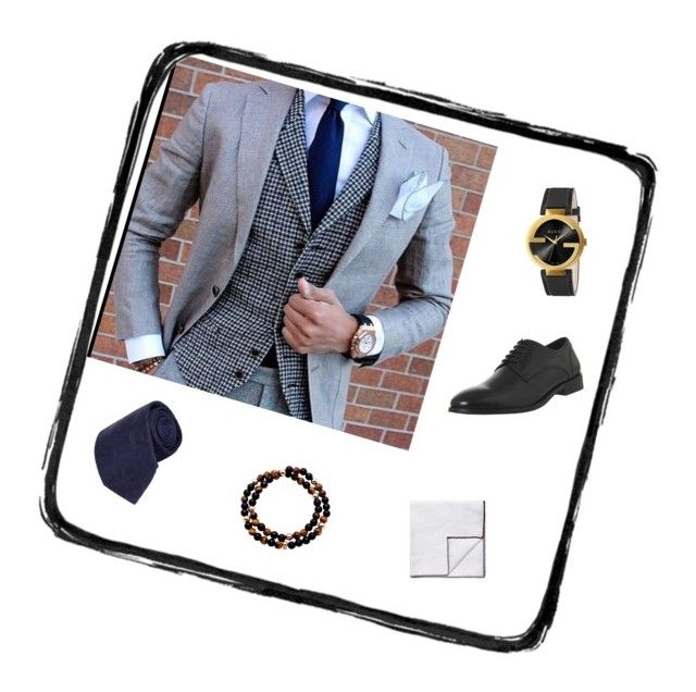 """""""Untitled #68"""" by christina-mos on Polyvore featuring Brunello Cucinelli, Turnbull & Asser, Gucci, Nialaya, Office, men's fashion and menswear"""