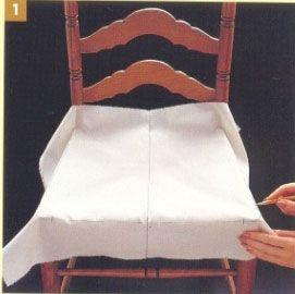 Накидка на стул своими руками: инструкция от мастеров