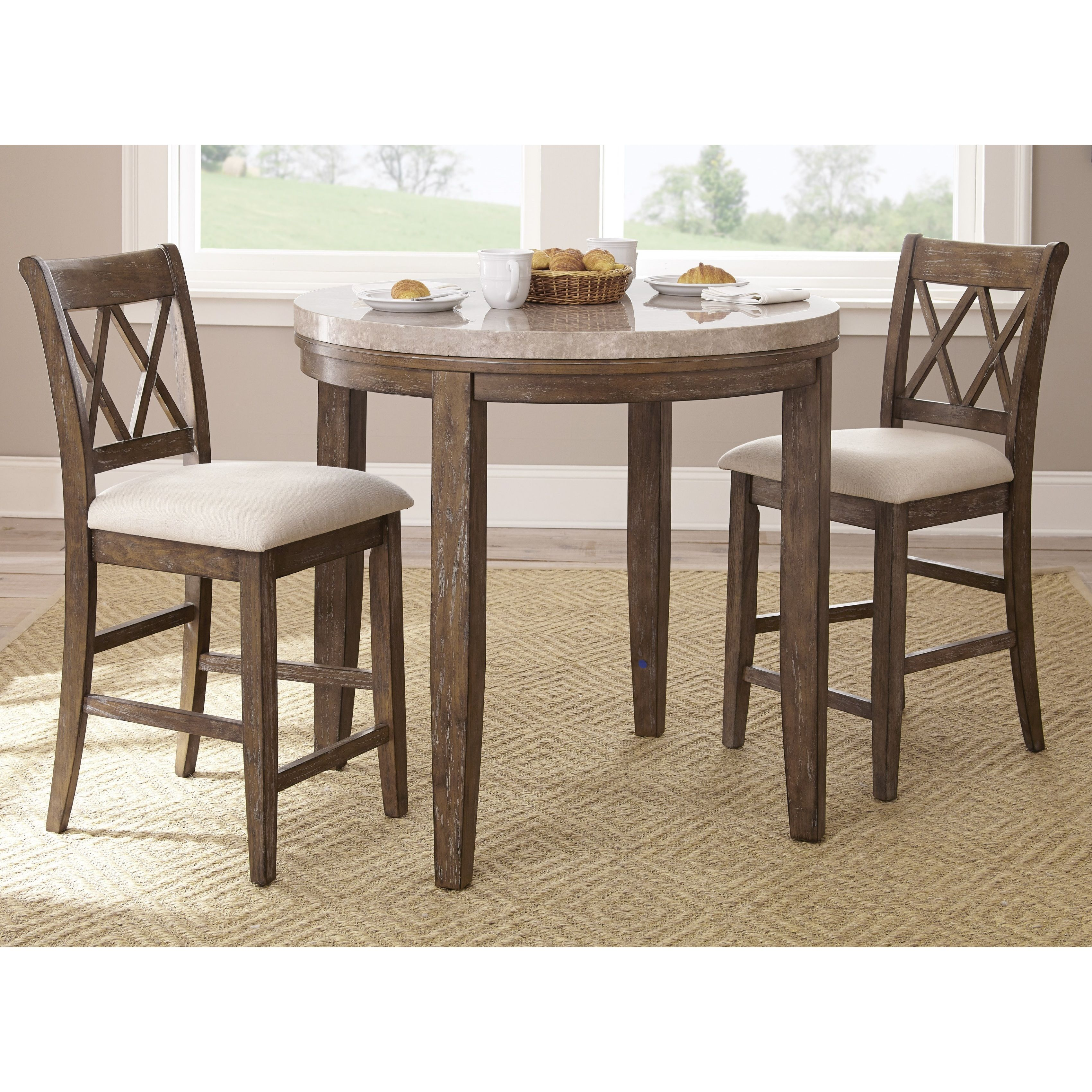Pub Style Dinette Sets: Greyson Living Fulham Counter Height Bar Set (Fulham 3PC