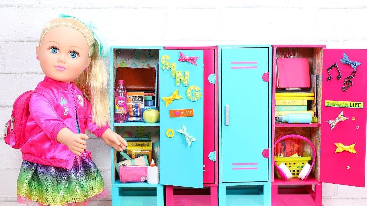 Baby Doll School Locker For Jojo Siwa Play Pretend School Packing