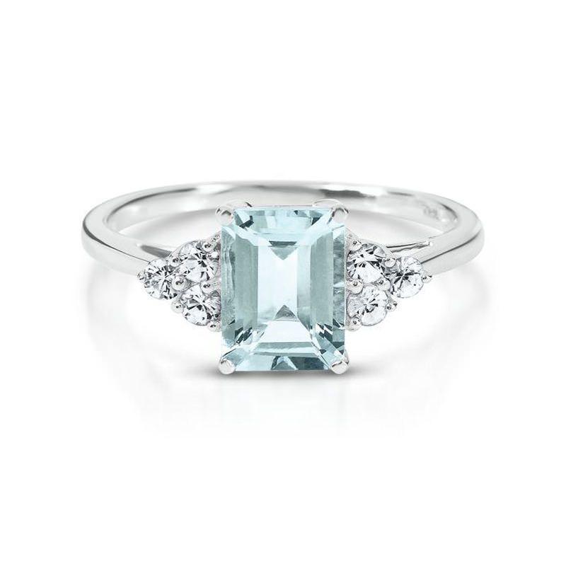 23 anéis de noivado com água-marinha para você se inspirar c71473e59a