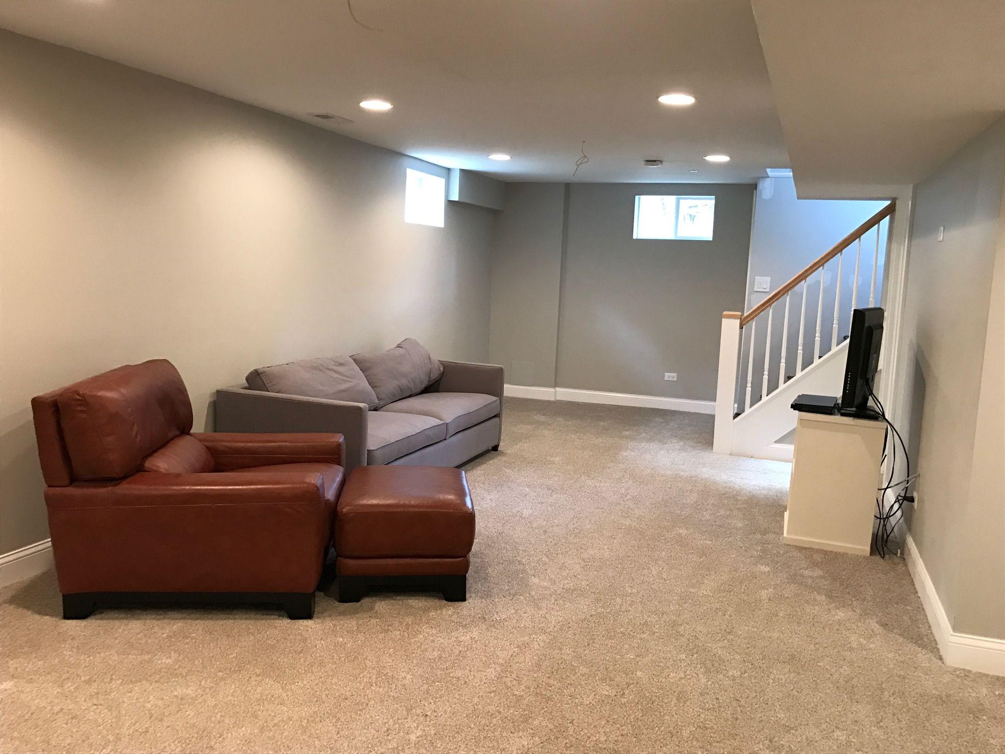 The Finished Flip Basement remodeling, Cheap remodel