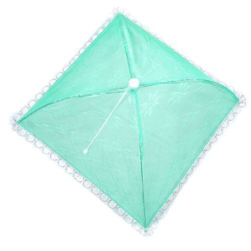 "Amico Camping Picnic Flower Pattern Foldable Umbrella Food Cover Green by Amico. $6.46. Package Content : 1 x Umbrella Food Cover. Product Name : Umbrella Food Cover;Material : Metal, Nylon, Lace. Main Color : Green, White;Unfolded Size : 56 x 56 x 26cm/ 22"" x 22"" x 10.2""(L*W*H). Folded Length : 53cm/ 20.8"". Weight : 109g. This is a foold cover keeps the bugs out, but allows you to see the tasty dish beneath. Just push the frame in cover, the cover will open fo..."