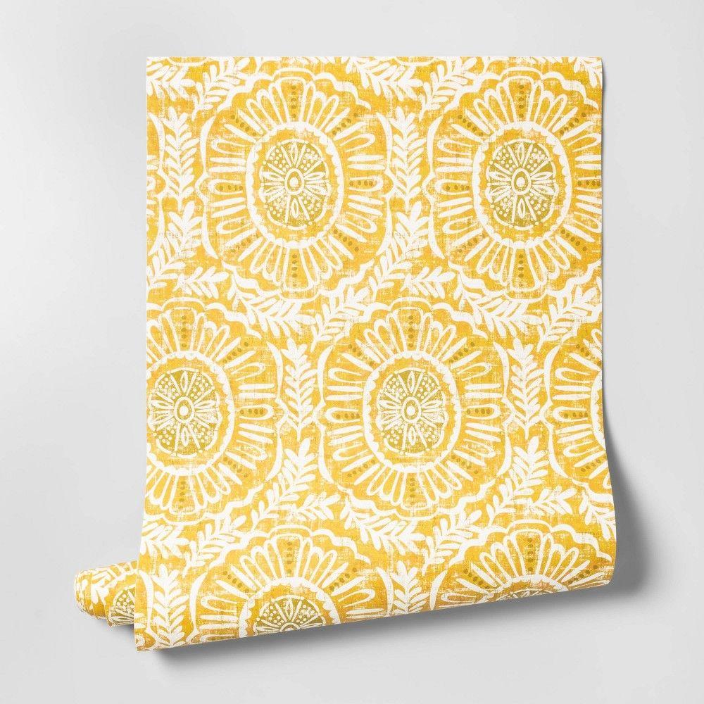 Madre Medallion Wallpaper Yellow Opalhouse™ Medallion