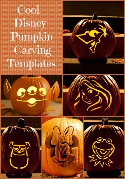 Cool disney inspired pumpkin carving ideas disney toys for Cool easy ways to carve a pumpkin