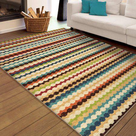 Multi Colored Striped Area Rugs Area Rug Ideas