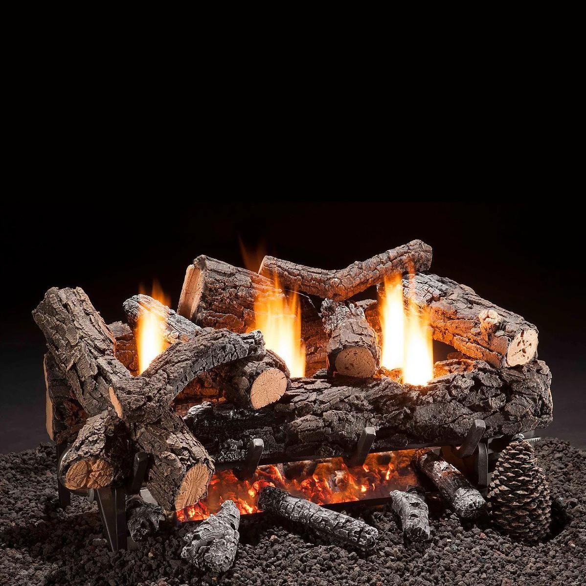Hargrove 30 Inch Cozy Fire Vent Free Propane Gas Log Set Manual