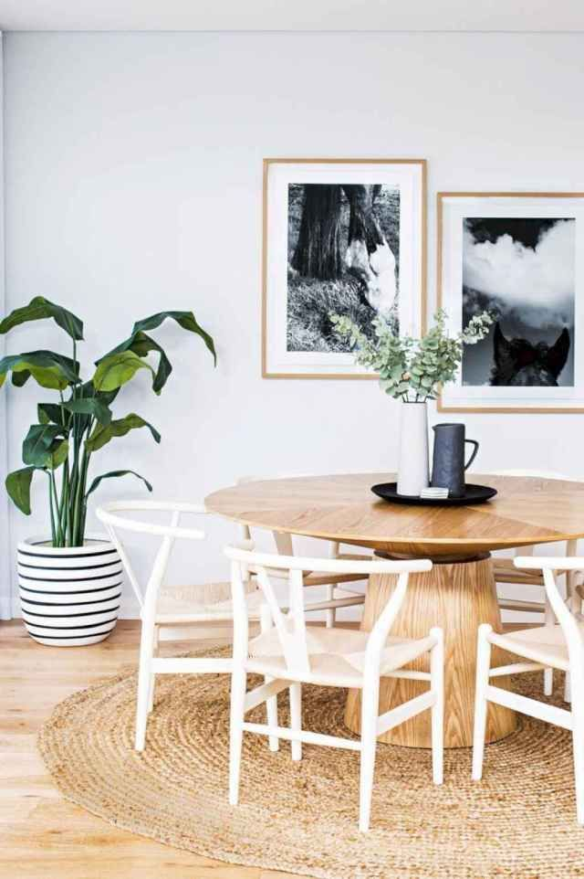 28 Minimalist Scandinavian Dining Room To Maximize Small Space In 2020 Organic Dining Room Round Dining Room Round Dining Room Table