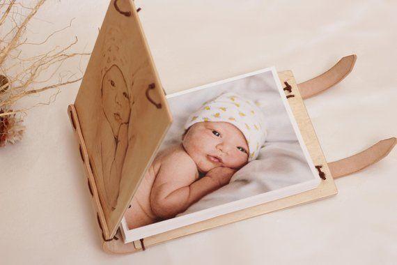Personalised photo album Custom photo album Baby album Guest book Wooden Photobook Gift Ideas (wat