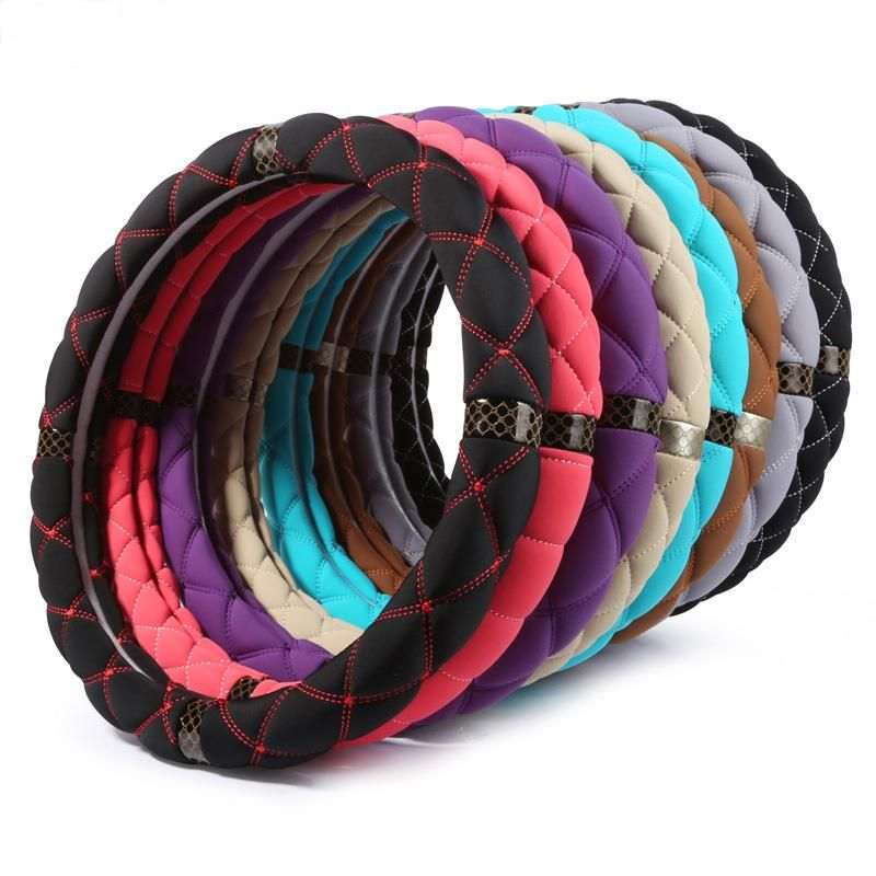 New Style Silk Fiber Solid Color Steering Wheel Cover