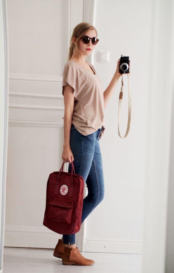 Muotibloggaaja Jenni Rotonen ja Fjällräven Kånken