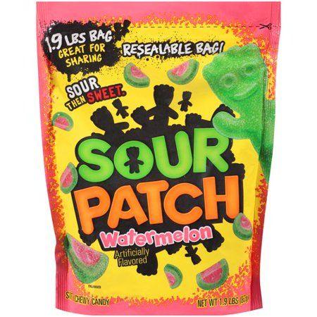 Sour Patch Kids Watermelon Candy Original Flavor 1 Family Size Bag 1 8 Lb Walmart Com Sour Patch Watermelon Sour Patch Kids Chewy Candy