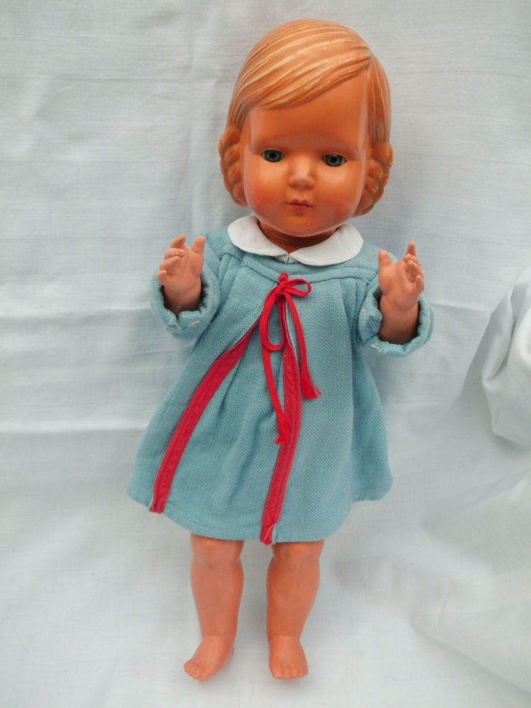 Alte Cellba Helga Puppe M Affenschaukel Frisur Um 1935 42 Cm Old Dolls Doll Dress Dolls