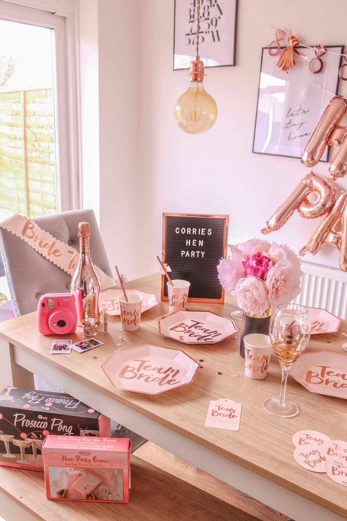 Hen Party Do Ideas Ginger Ray Team Bride Decorations Wedding Planning Dizzybrunette3