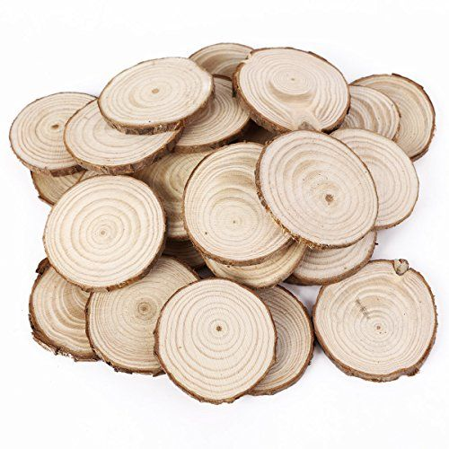 25pcs 5cm wooden wood log slices discs natural tree bark table 25pcs 5cm wooden wood log slices discs natural tree bark table decorative wedding centerpieces round junglespirit Gallery