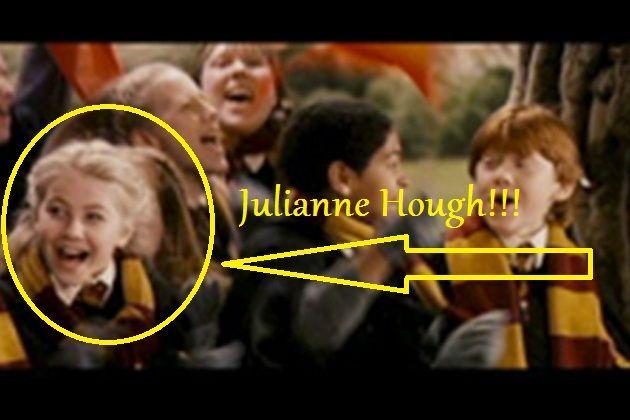 Derek Julianne Hough Recall Their Days As Harry Potter Extras Her Costar Crush What He Stole From Set Julianne Hough Movies Derek And Julianne Hough Harry