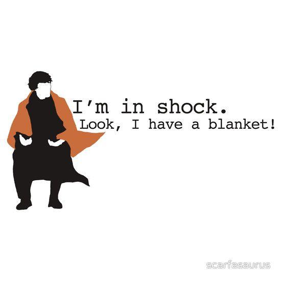 Sherlock Shock Blanket Sticker by scarfasaurus