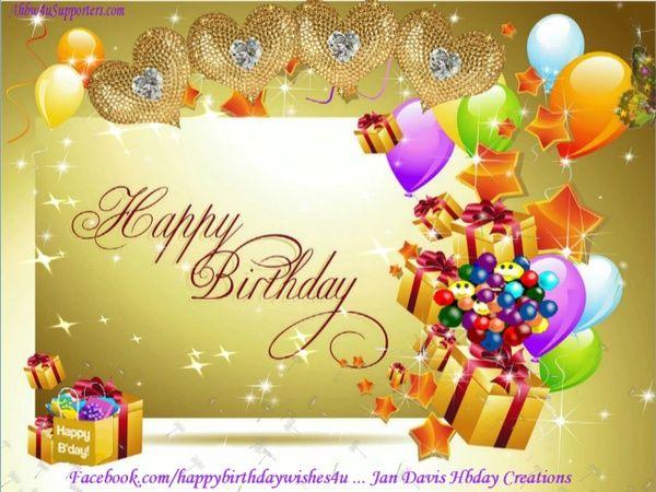 Golden Hearts Hbday Wishes Happy birthday video Birthday video