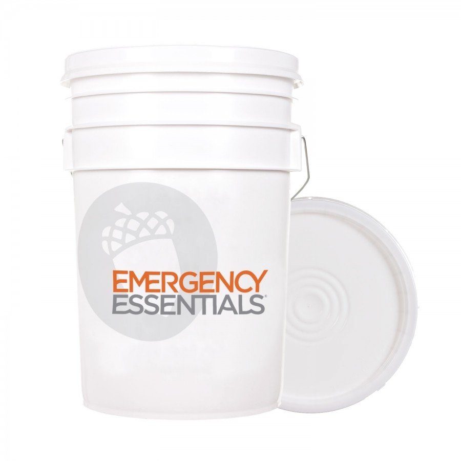 Stackable High Quality Food Grade Plastic 6 Gallon Bucket That Comes With A Reusable Heavy Weight Lid In 2020 Emergency Essentials Bucket With Lid Food Grade Buckets