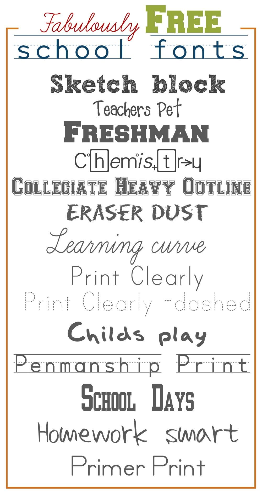 Fabulously Free School Fonts Pinterest School Fonts Fonts And