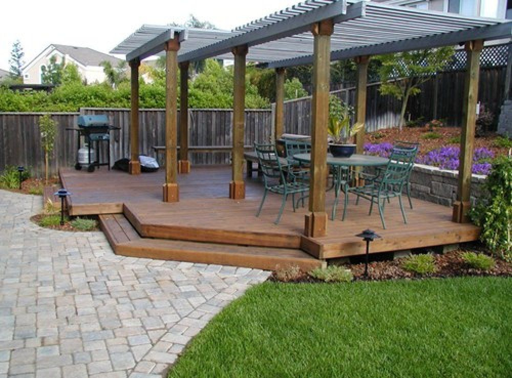 Hereu0027s A Large Floating Deck With Two Pergolas Covering ...