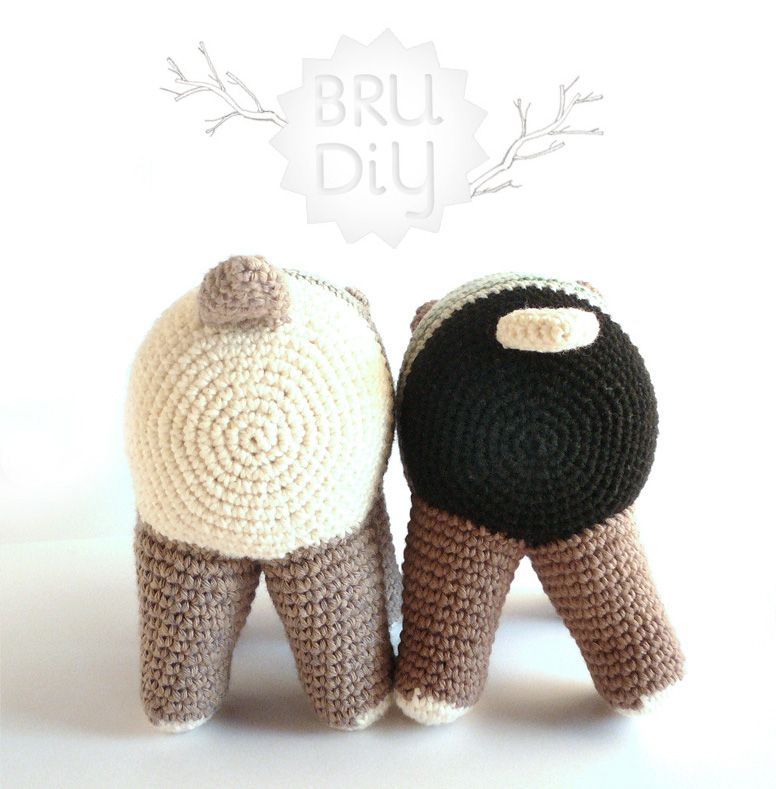Ós Bru. Handmade eco-cotton crochet animal by Bru·Diy #crochet #bear ...