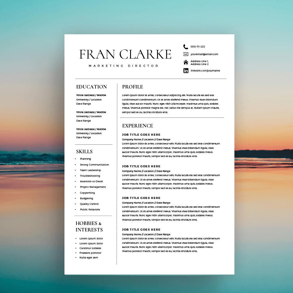 Creative Resume Template For Word One Of Our Successful Resume