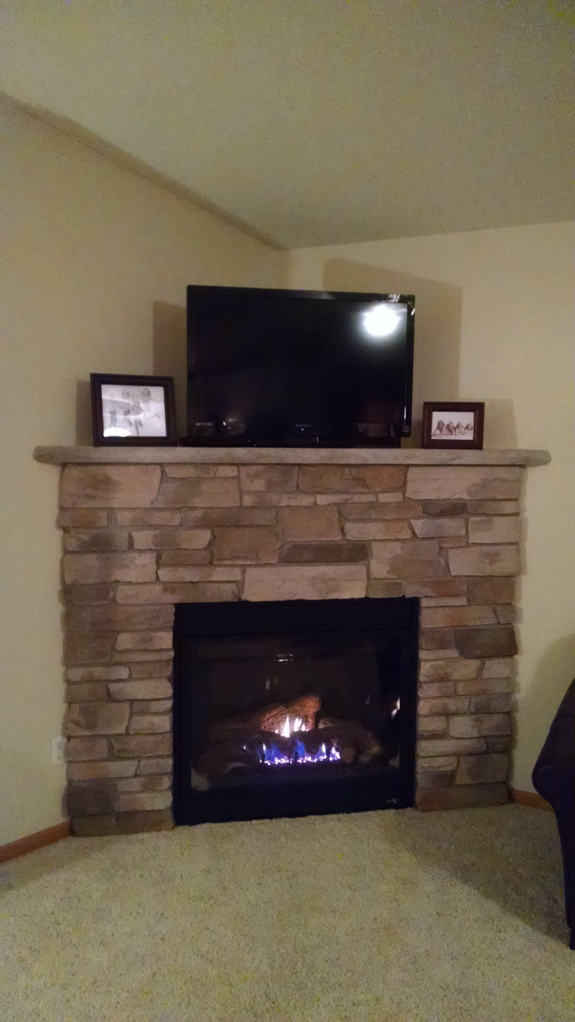 kozy heat thief river falls gas fireplace with stone surround