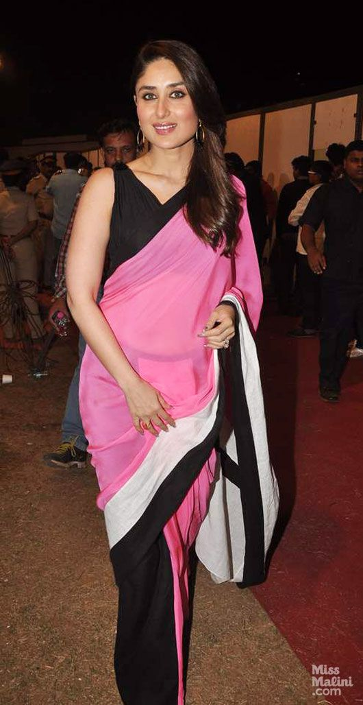 Kareena Kapoor Khan stunning in pink & black saree | suits & sarees ...