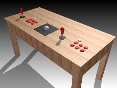 Mame Coffee Table.A Wireless Mame Coffee Table Controller Mame Arcade Table