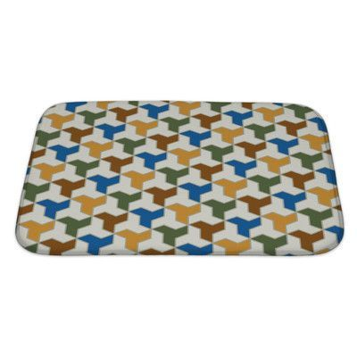 Gear New Gamma Islamic Tiles Pattern Bath Mat/Rug Size: