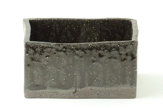 四角鉢 土灰 - 机上のクーロン