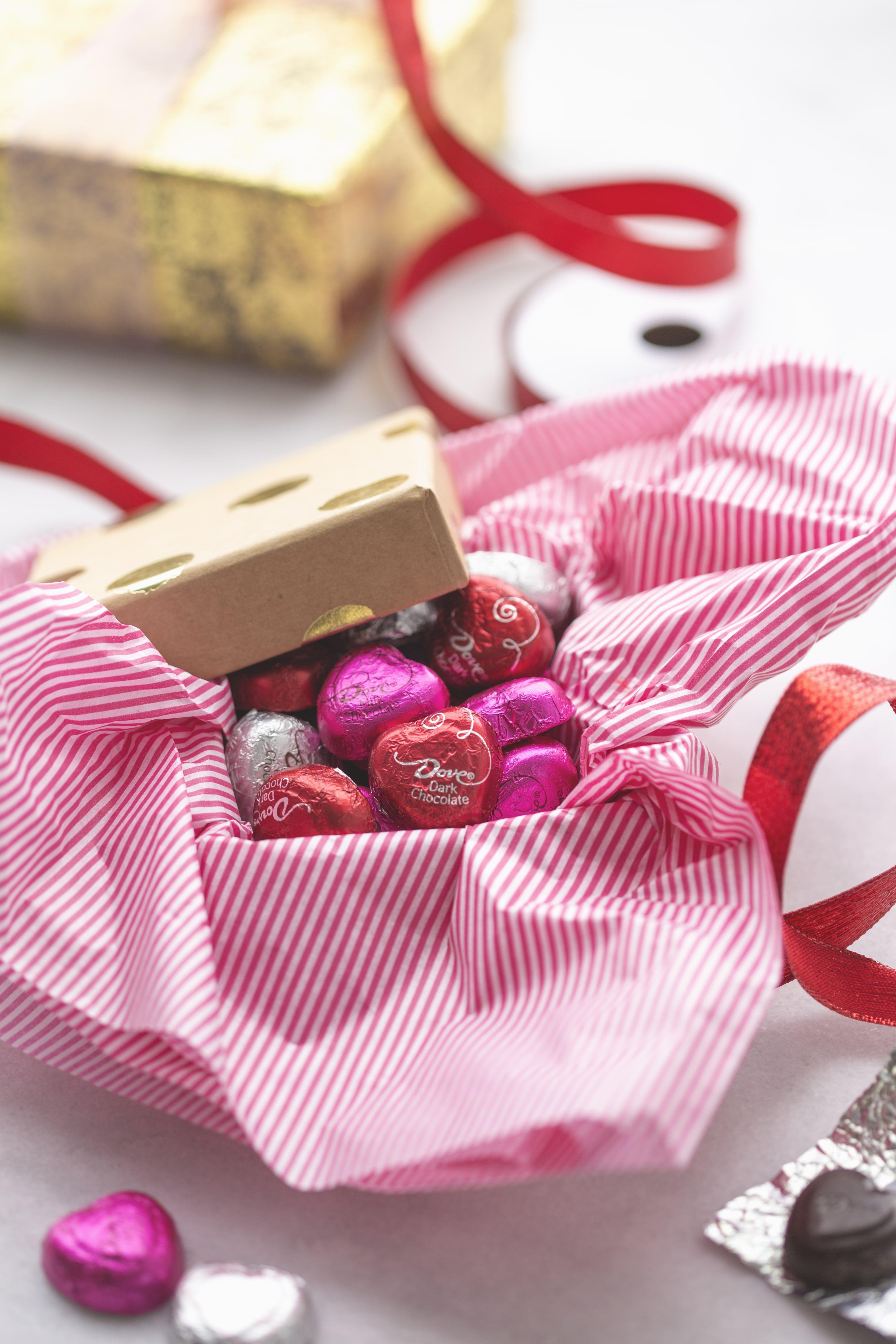 Dovechocolatejourney Red Tissue Paper Dove Chocolate Diy Box