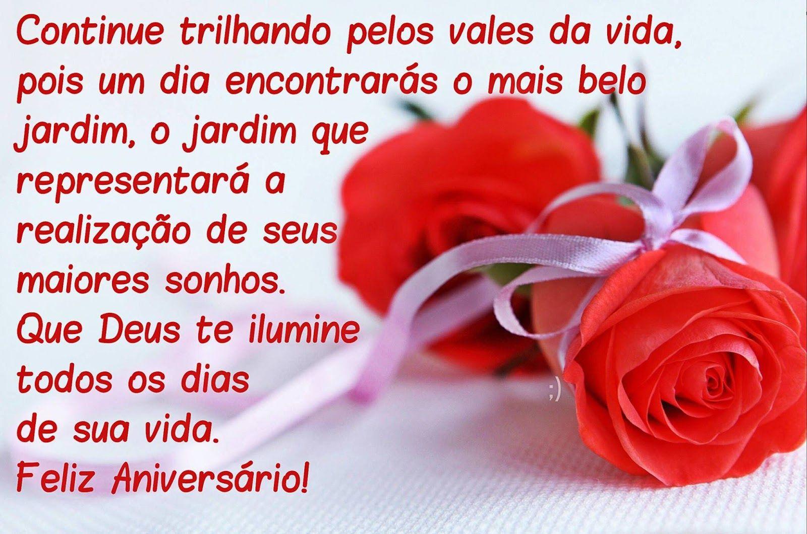 Frases De Feliz Aniversário Lindas: Que Deus Te Ilumine Todos Os Dias De Sua Vida. Feliz