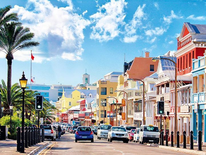Front Street in the City of Hamilton, Bermuda.   Bermuda vacations ...