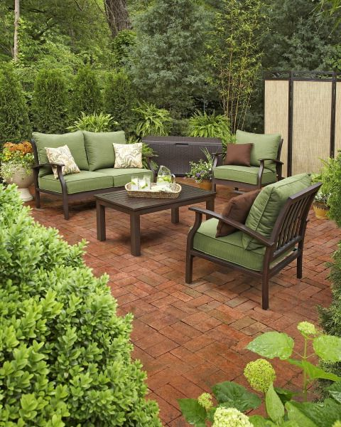 Pin By Lowe S On Landscapes That Need A Pergola Patio Lowes Patio Furniture Brown Wicker Patio Furniture