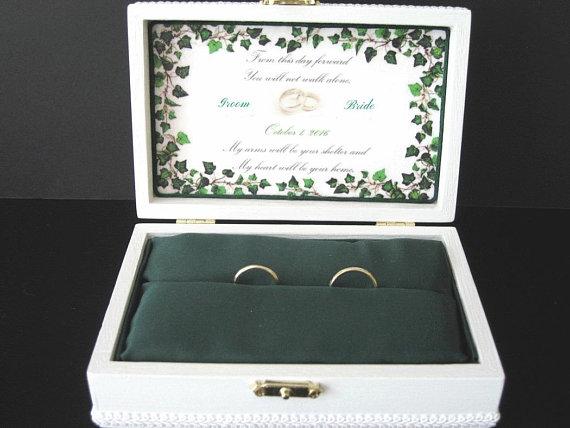 Personalized Wedding Ring Box Ring Bearer Box Keepsake Jewelry Box
